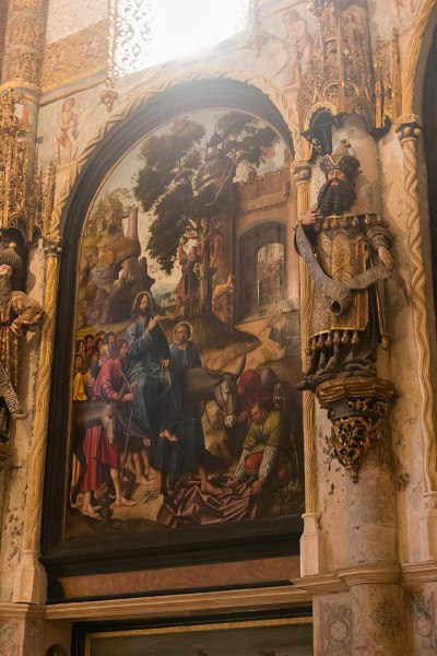 Entrance of Jesus into Jerusalem. Convent of the Order of Christ (XV century, Tomar in Portugal) Photo by Daniel VILLAFRUELA