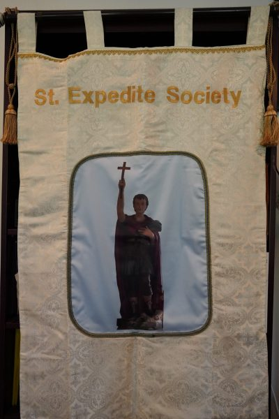 St. Expedite Society banner