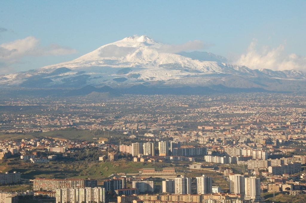 Mt. Etna and Catania