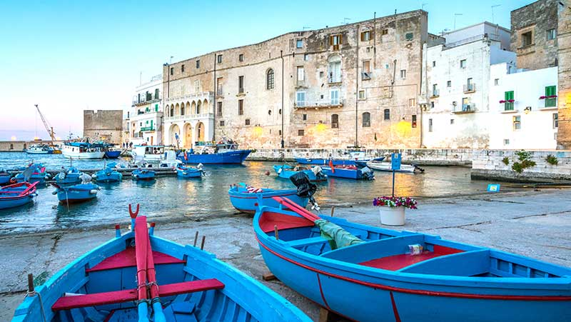 A suggestive view of the old port of Bari