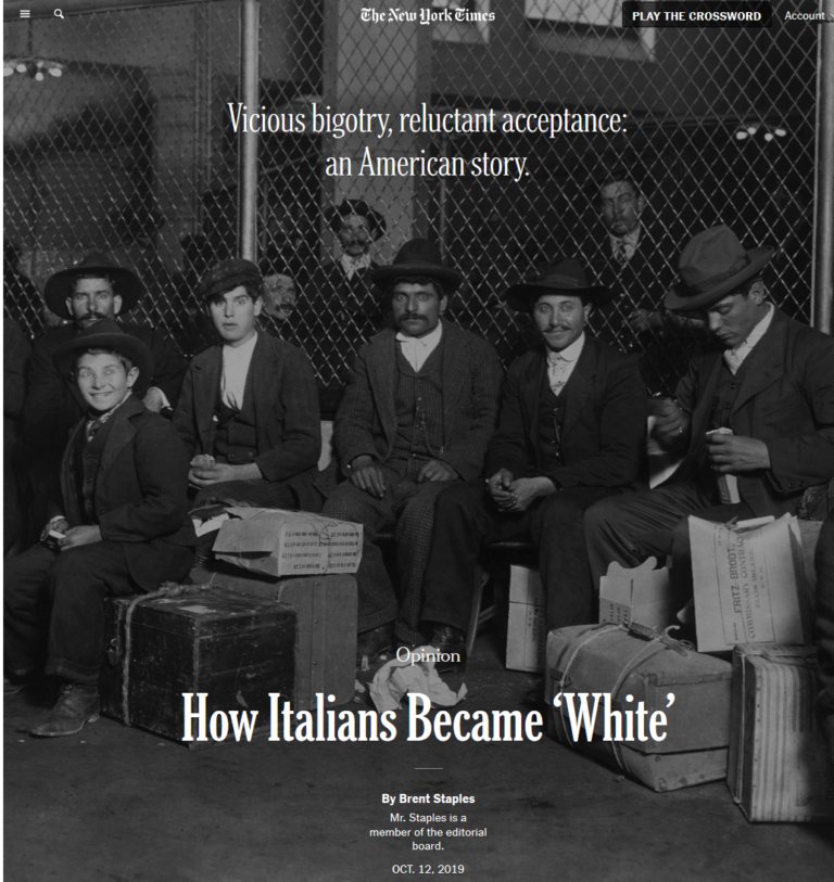 How The Italians Became White